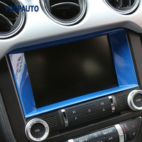 Car Styling For Ford Mustang 2015 16 17 Up Interior Accessory Central Control Panel Navigation Frame