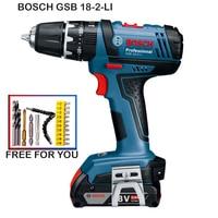 Bosch GSB18-2-LI Cordless Impact Drill Electric Screwdriver Power Tool Lithium Battery Screwdriver Wall Drill