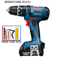 Bosch GSB18 2 LI Cordless Impact Drill Electric Screwdriver Power Tool Lithium Battery Screwdriver Wall Drill