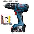 GSB18-2-LI Bosch Ferramenta de Poder Bateria De Lítio Furadeira de Impacto sem fio chave de Fenda Elétrica Chave De Fenda Furadeira De Parede