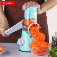 Multifunktionale Hand bedient Gemüse Kartoffel Julienne Karotten Shredder Hobel Küche Roller Gemüseschneider Küchenmaschine-in Küchenmaschinen aus Haushaltsgeräte bei
