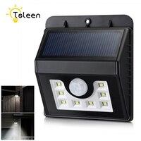 TSLEEN 2Pcs Led Lamp Solar Light 2835 SMD White Luminaria Solar Power Outdoor Garden Light PIR