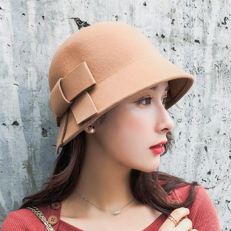 Seioum 100% wool Mother Gift Lady Top Grade Banquet Formal Hats Women Winter  Pure Wool 8e44aa3f33b6