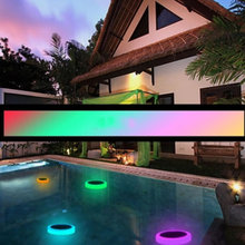 Remote Cointrol Underwater Light Solar Power Pond Floating Waterproof LED Pool Fishing Light