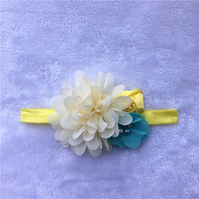 Headband big chiffon Flower with Rose Head wear  hairband