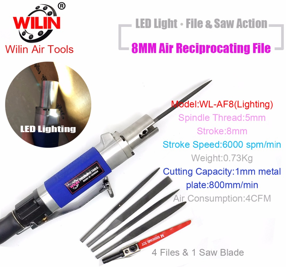 Air Cutting Tool Dual Function Pneumatic Air Body Saw Pneumatic Reciprocating File Machine AF-8 8mm LED Lighting Dual Function high quality dual function pneumatic file machine air reciprocating saws air file tool cutting tool
