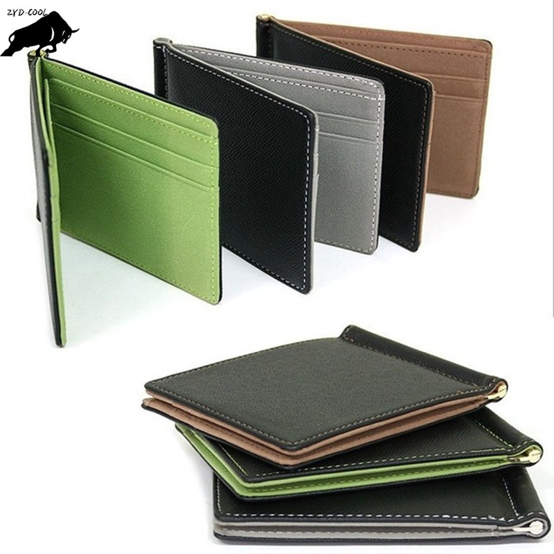ZYD-COOL Wallet Men Card-Holder Thin-Card Bank Pu