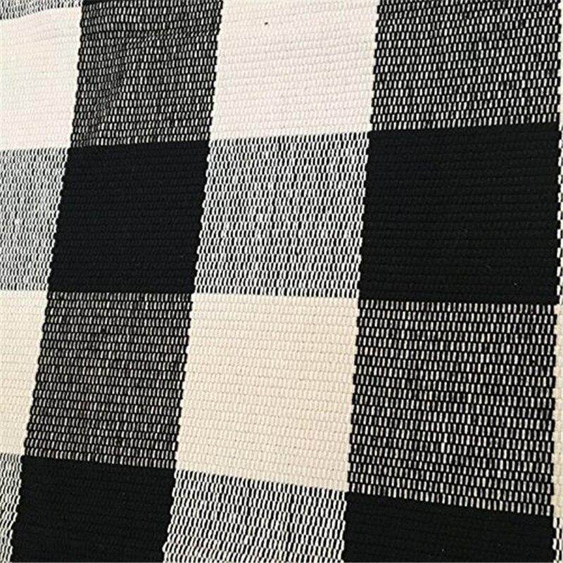 Checkered Bath Rug: Black And White Plaid Rug