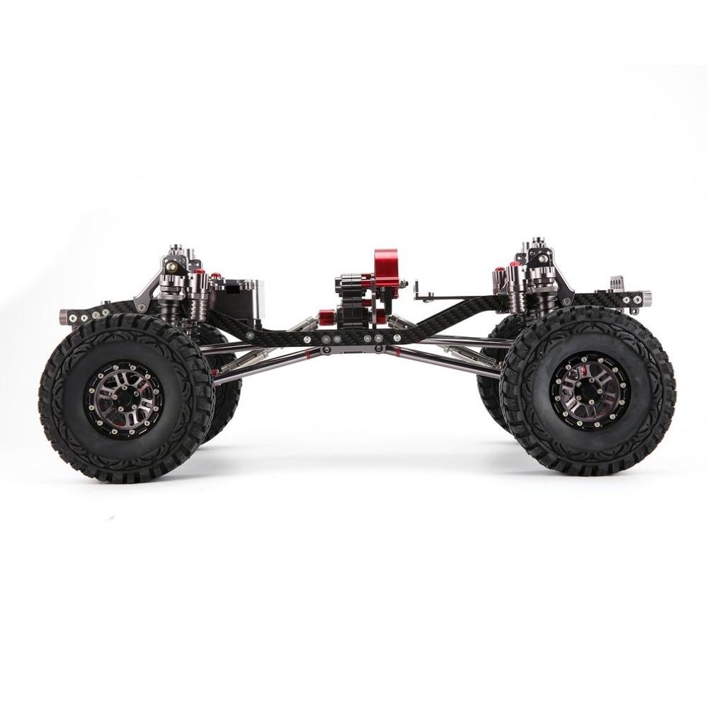 CNC aluminio Metal y carbono cuerpo de marco para 1/10 RC Crawler ...