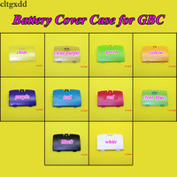 Cltgxdd  10 Colors Optional Battery Covers Case Replacement For Gameboy Color For GBC Housing Back Door