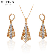 2017 Wedding engagement jewelry rhinestone bridal jewellry sets lady gifts women's clothing accessories gold color trend C017412