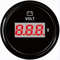 1pc Digital Voltmeters Voltage Guages 8 32V Volt Meters 52mm for Auto Boat Agricultural Machinery Engines Generating Units