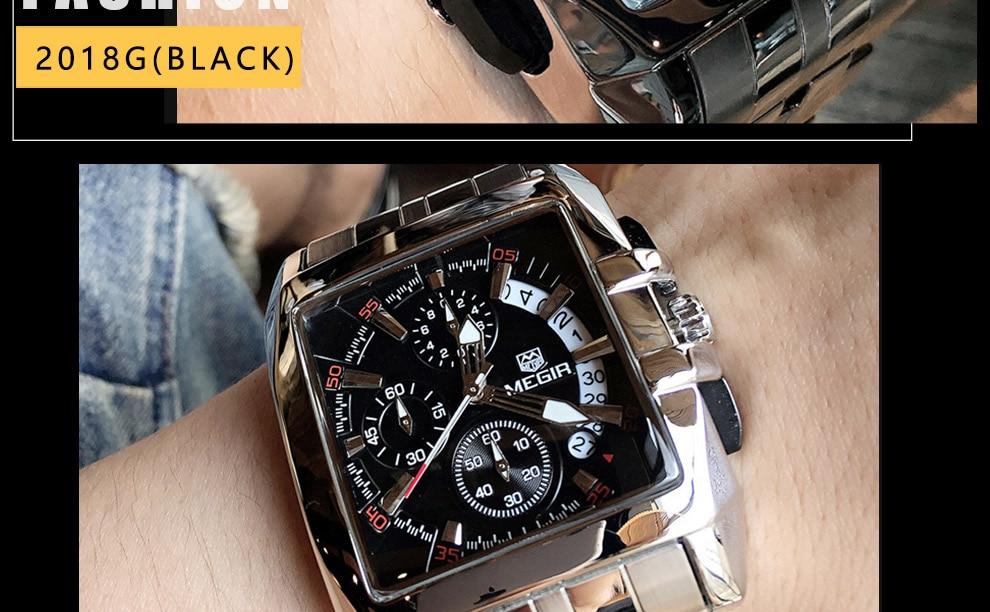 2018-En_20  MEGIR Males's Large Dial Luxurious Prime Model Quartz Wristwatches Artistic Enterprise Stainless Metal Sports activities Watches Males Relogio Masculino HTB1