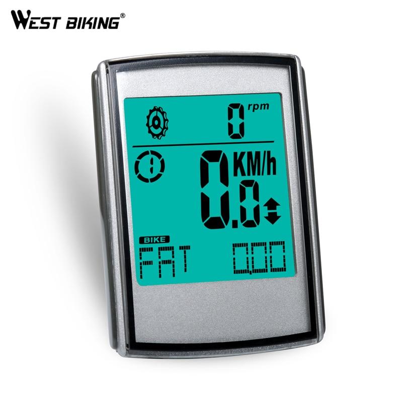 WEST BIKING Wireless Bike Computer Cadence Heart Rate Speed 3 in 1 Multi Functional LED Odometer Speedometer Bicycle Computer