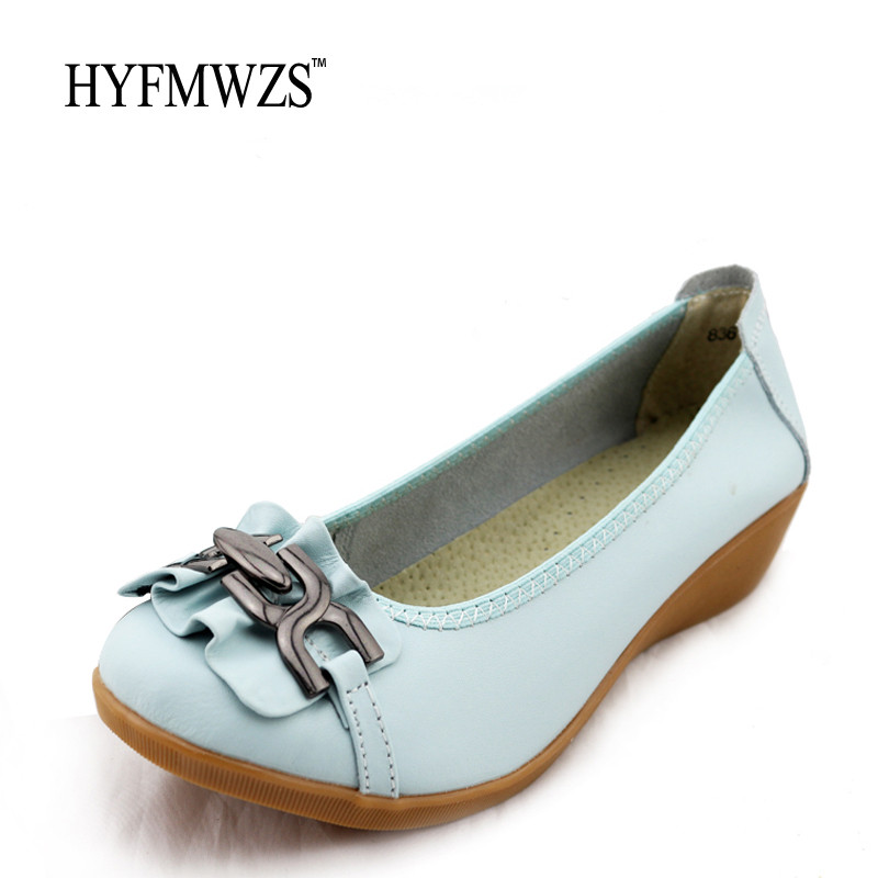 Women Loafers Spilt Leather Shoes Woman Soft And Breathable Mother Shoes Flat Shoes Women Non-Slip Nurse Shoes Ballet Flats hyfmwzs soft and breathable flat shoes women slip on non slip leather shoes woman comfortable lace up ballet flats zapatos mujer
