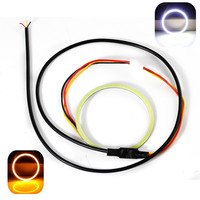 2X Dual Color COB LED Angel Eyes 6cm Angle Eyes Car Styling Daytime Running Light White