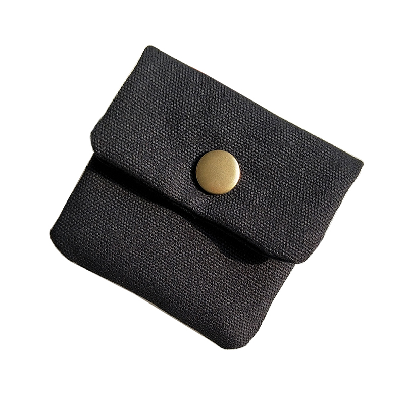 Handmade Original Brand Designer Small Coin Purse Hasp Mini Short coin Wallet Purses Cotton Canvas Wax Oil Bolsa Men Women Bag
