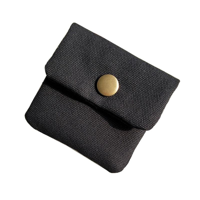 Handmade Original Brand Designer Small Coin Purse Hasp Mini Short coin Wallet Purses Cotton Canvas Wax Oil Bolsa Men Women Bag цена