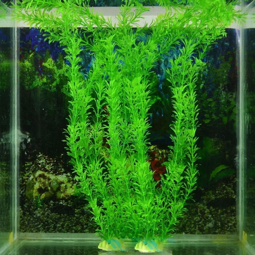 Underwater Green Artificial Plastic Plant Grass Fish Tank Aquarium Ornament  Decoration 30cm|grass handbag|grass squaregrass seed plant - AliExpress