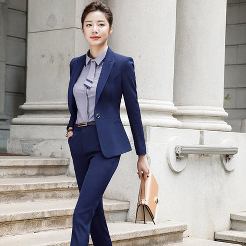Women/'s Office Lady Suit Set Work Blazer Jacket and Pant Two Pieces Outfit