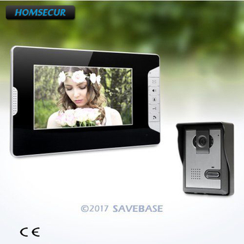 HOMSECUR 7inch Hands-free Video Door Entry Call System with Intra-monitor Audio Intercom+RU shipment XM703-B+XC005