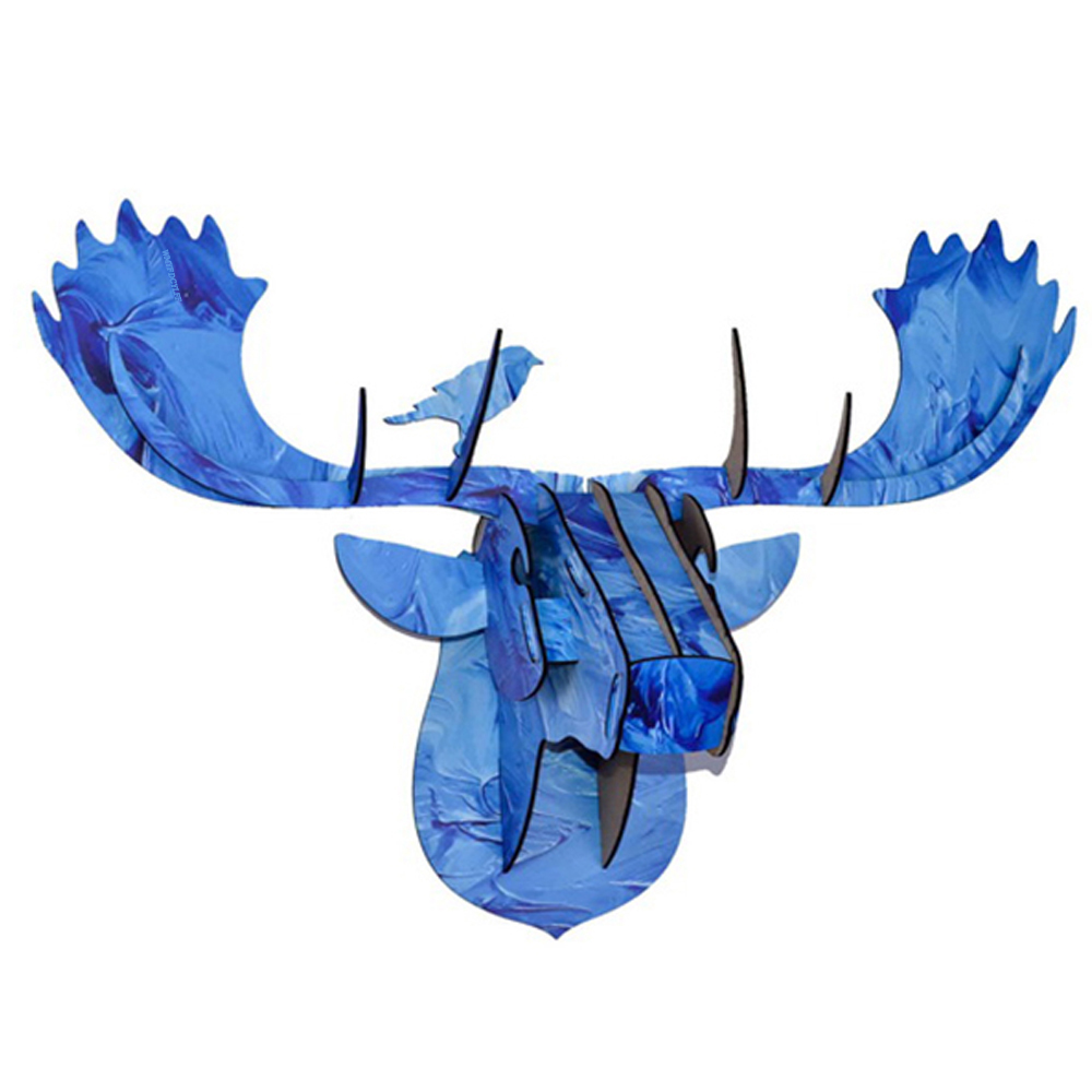 DIY 3D Wooden Animal Deer Head Art Model Home Office Wall Hanging Decoration Storage Holders Racks Home Decoration Accessories