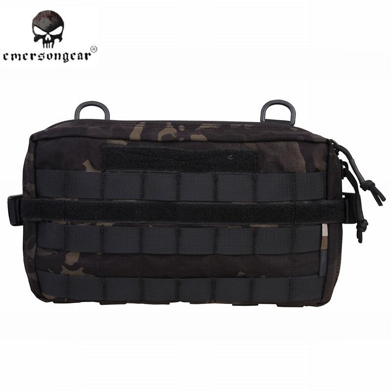 Emersongear Tactical Fight Multi-functional Utility Pouch Emerson Nylon Waist Bag Combat Gear EM8347 MCBK Multicam Black jinjuli nylon tactical pouch