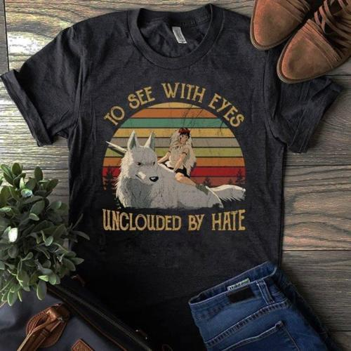 Mononoke To See With Eyes Unclouded By Hate T Shirt Cotton S 3Xl
