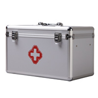 Aluminium Alloy Waterproof First Aid Kit Camping Car Emergency Survival Kit Medical Supplies For Home Outdoor