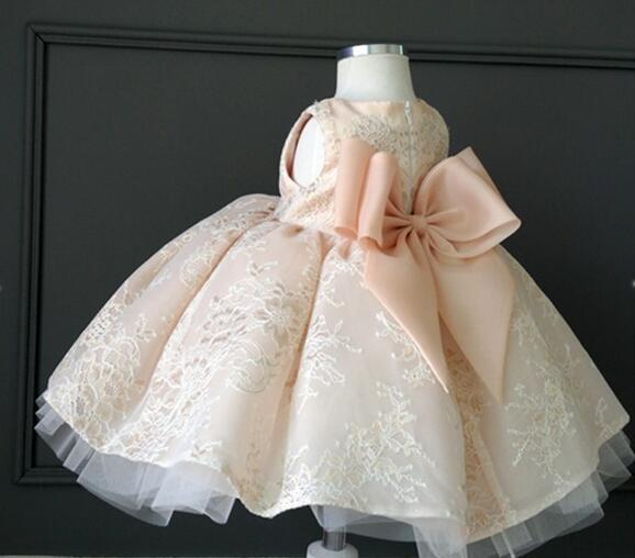 High Quality White Tulle Girl Summer Dress for Wedding Children Dress Party Princess Baby Girl Birthday Dress with Big Bow 2-12T high quality lace girl dresses children dress party summer princess baby girl wedding dress birthday big bow pink for 100 160