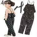2017 ropa de las muchachas de Los Mamelucos niños Niñas arnés en forma de corazón conjunto pieza de ropa niños verano ropa Del Mono