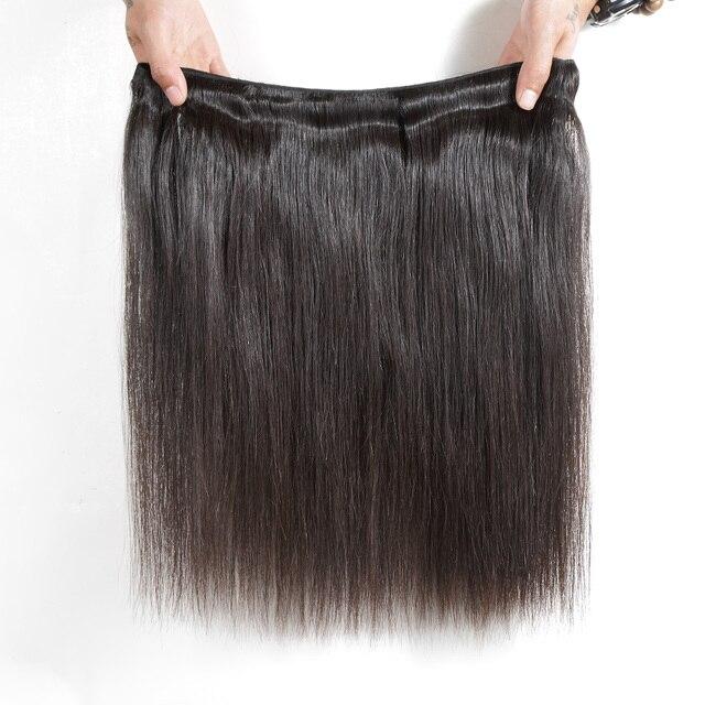 Tissage en lot naturel indien brut lisse-Luvin   Cheveux vierges, non traités, noir vendredi, 28 30 32 34 40 pouces, 1 3 4