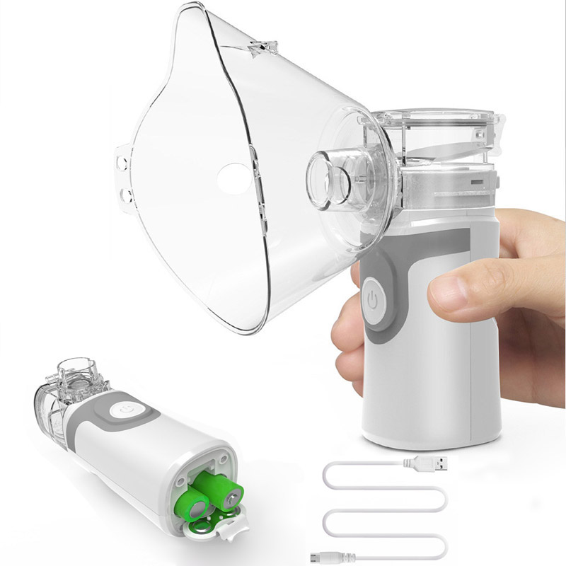 NEW Ultrasonic Nebulizer Handheld Asthma Inhaler Atomizer For Adult Children Health Care Mini Portable Mesh Nebulizer(China)