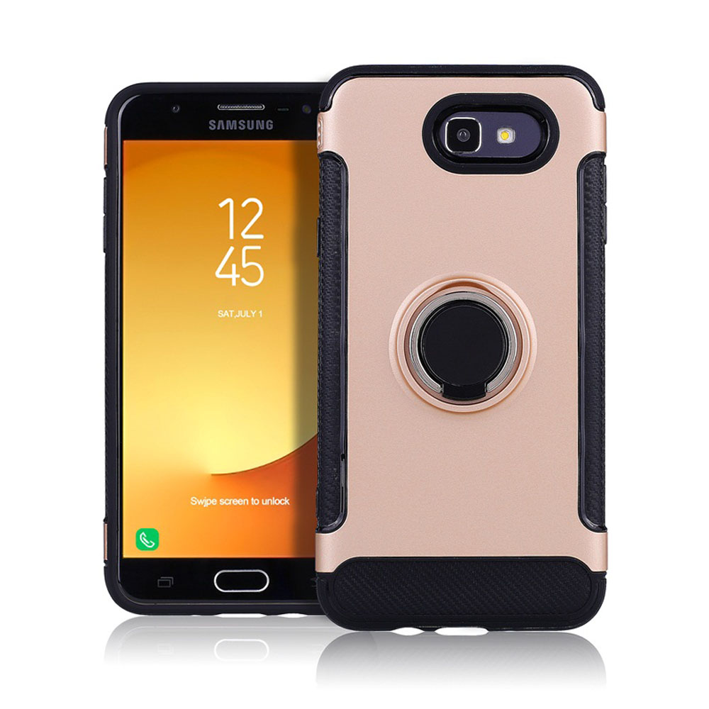 Dual Layer Armor Case + Ring Stand Magnetic Bracket Cover For Samsung Galaxy J3 2017/J3 Emerge/Luna Pro/J3 Prime/Eclipse/Sol 2