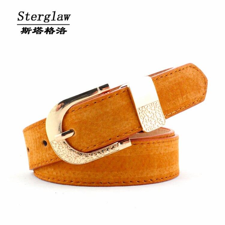 HOT selling quality pigskin wide   belt   women 2019 new classic designer fashion casual jeans   belt   cinturones mujer sterglaw F103