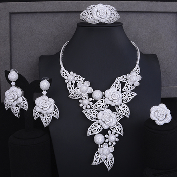 Luxury Blooming Flowers Jewelry Set