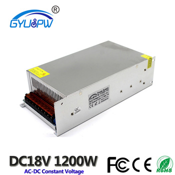 18V 1200W 66.7A Switching power supply ower Supply for Industrial Machinery Equipment Motor Power Supply for Engraving Machine