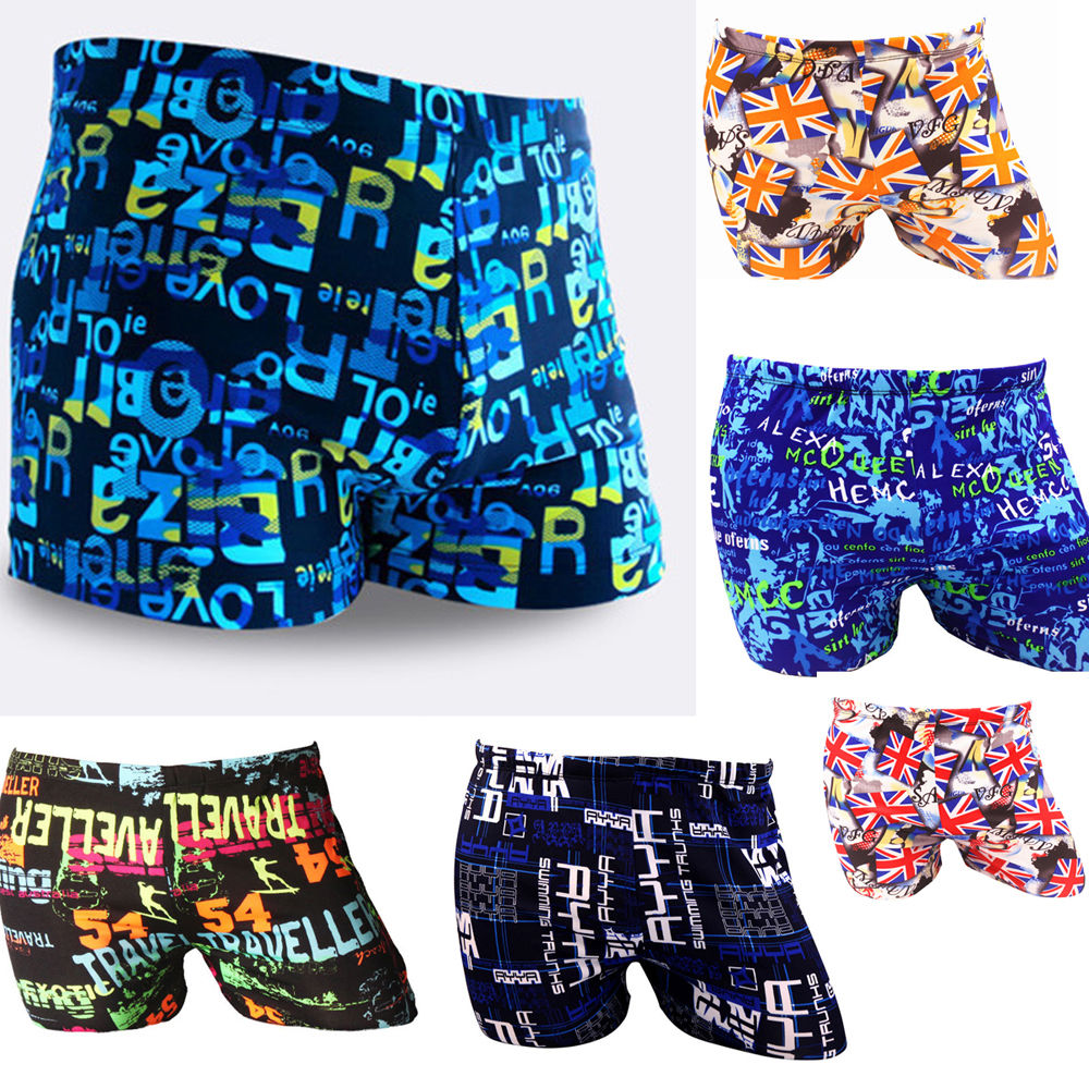 Men Swim Short Beach Pants Swimwear Swimming Trunks Surfing Sports Shorts