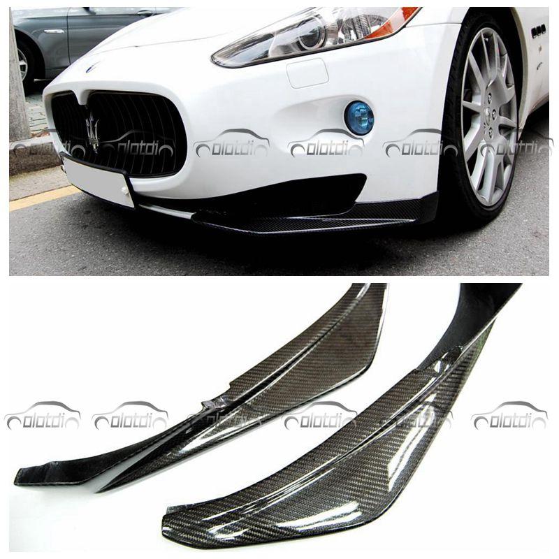 MC стиль реальные углеродного волокно передние сплиттеры боковой угол бампера для губ протектор Maserati GTS стайлинга автомобилей