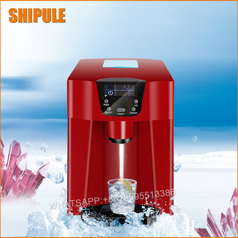 2017 commercial use or home use ice maker machine,round style ice making machine,Automatic feed water making ice machine commercial automatic ice maker household electric bullet round ice making machine 15kg 24h family small bar coffee teamilk shop