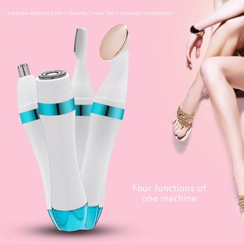 4-in-1 Electric Eyebrow Shaping Knife Multifunctional NoseHair Removal Machine Wet Dry Women  Bikini  Face Precision Epilator