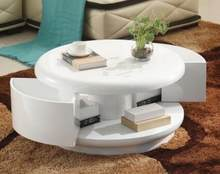Small family storage. Round tea table table. Contracted and contemporary painting white ready(China)