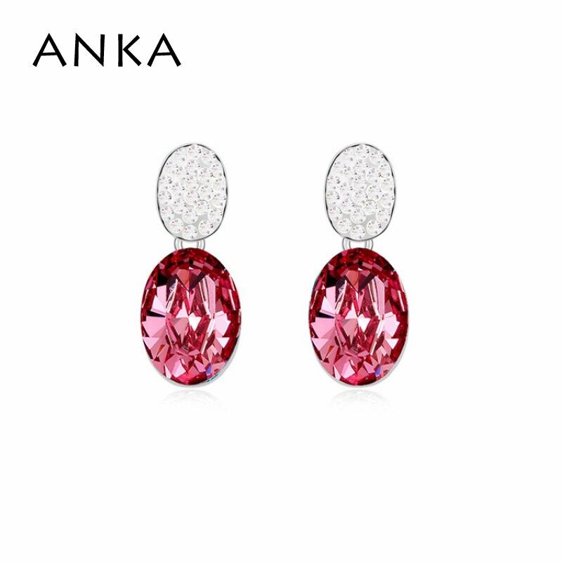 6128c3afd86b ANKA nueva llegada geométrica cristal cuelgan los pendientes para las  mujeres cristales de piedra principal de Swarovski  96928