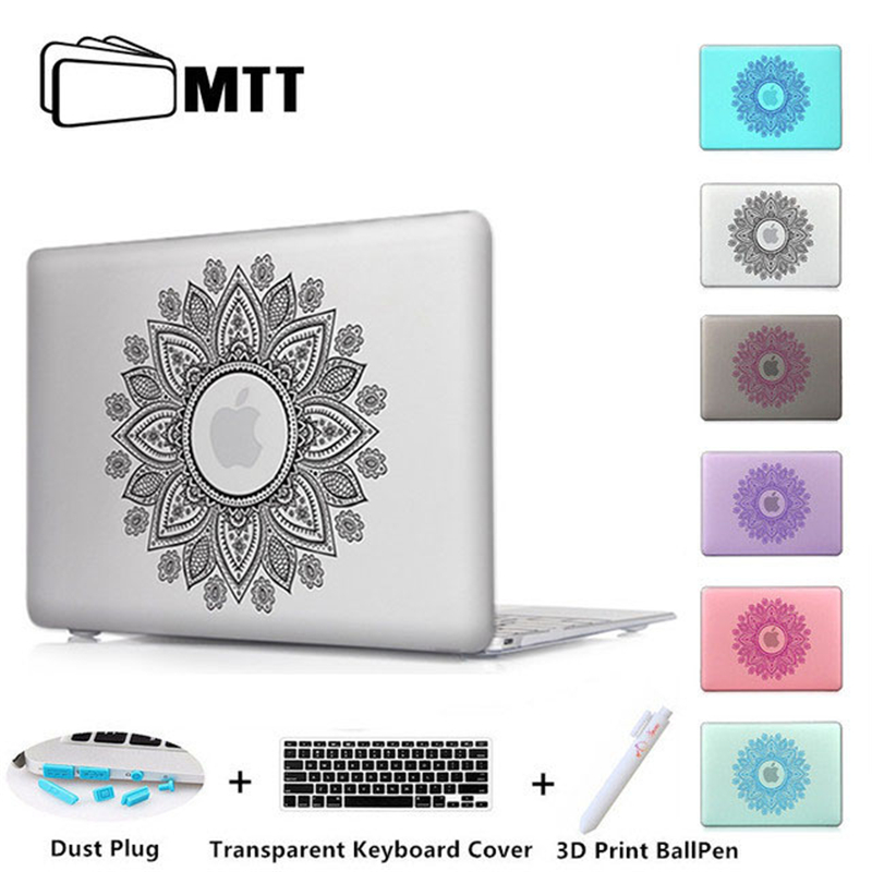 Mandala Round Ornament Print Shell Cover For Macbook Pro 13.3 Case For Laptop Mac Book Air Pro 11 12 13 15 inch With Touch Bar