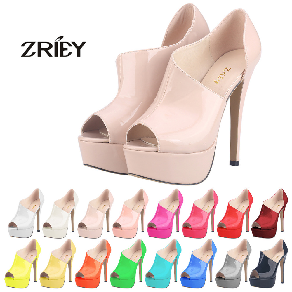 Summer Fashion Patent Leather Pumps font b Women b font Sexy Shoes High Heels Sandals Slip
