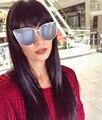 Новейшие Тенденции Моды Cateye Женщины Мужчины Большой Сплав Frame Солнцезащитные Очки Конструктора Тавра Винтаж Высокое Качество Солнцезащитные Очки UV400-Proof