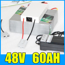 48V 60AH Lithium Battery Pack , 54.6V 2500W Electric bicycle Scooter solar energy Battery , Free BMS Charger Shipping цена и фото