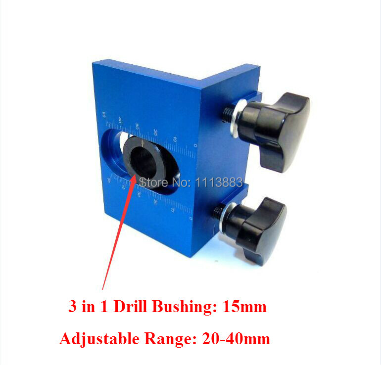 Купить с кэшбэком DIY Woodworking Joinery High Precision Dowel Jigs Kit With 3 Metric Dowel Holes(6mm,8mm,10mm)