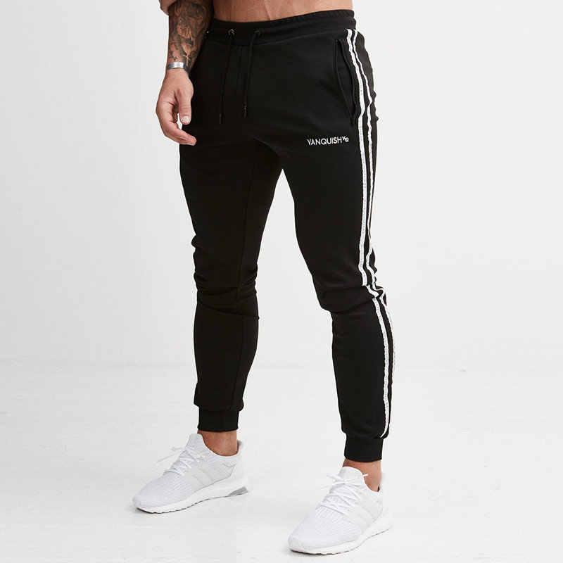 8cd0e835a55 Для мужчин s повседневные брюки для пробежек Фитнес Для мужчин спортивной  костюм плавки узкие пот Штаны