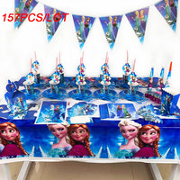 157Pcs Disney Frozen Theme Cup Plate Napkin Kid Birthday Party Decoration Party Event Supplies Disney Frozen Knives Forks Spoons